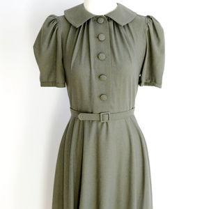 Dresses & Skirts - 30s style green rayon dress